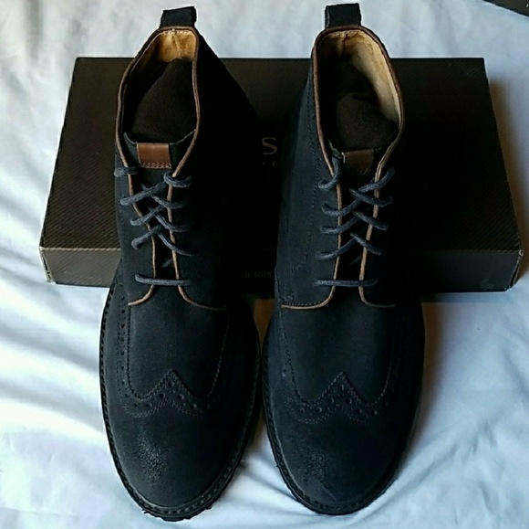 ff7e465022681 NEW Florsheim Limited Gaffney Navy Wingtip Boots